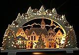3D Schwibbogen 52cm Adventszeit in der Altstadt - Handarbeit Erzgebirge