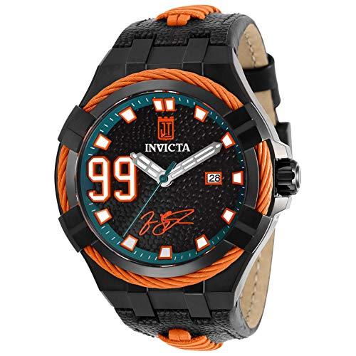 Invicta Jason Taylor Herren-Armbanduhr Armband Leder Schwarz Automatik 28523