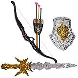 #1: Vshine Warrior Set with Kings Sword, Shield and Archery Set, Bahubali Warrior Set - Knights Fancy Dress Kids Cosplay