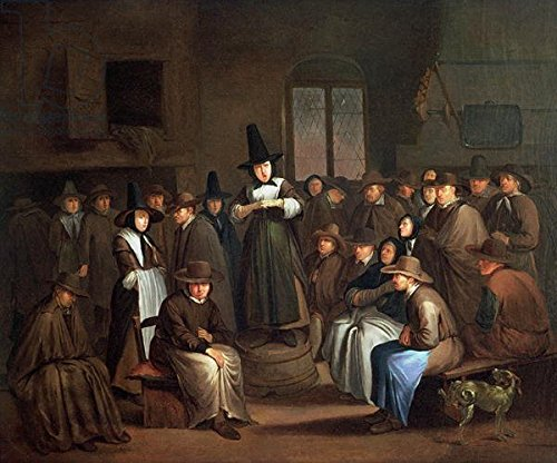 a-quakers-meeting-oil-on-canvas-160825-canvas-60-x-50-cm