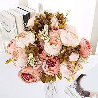 qEbGj70thjT 1 Ramo 13 Cabezas Artificial Peonía Flor De Seda Fiesta De Boda Decoración del Hogar Fondo Pared Boda Paisajismo Fotografía Accesorios