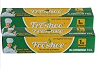 Freshee 1kg Gross Aluminium Silver Kitchen Foil Roll Paper Pack of 2| 18 micron thick| Food wrap| Bacteria Resistant| Disposable| Food Parcel| Hookah| Fresh Food| Food Grade Quality