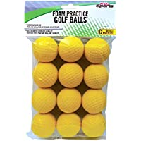 PrideSports Practice Golf Balls, Foam, 12 Count, Yellow by