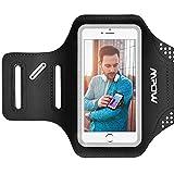Mpow Brassard Sport iPhone 7/8/X/6/6S/5S/5/5C, Samsung Galaxy S7/S6/S5, Wiko Rainbow Jusqu'à 5.2'' - Anti-Sueur Etui Armband Noir - Portefeuille et Porte-Clé pour le Jogging Faire du Fitness [Garantie à Vie]