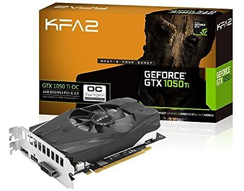 KFA2 GeForce GTX 1050 Ti OC PCI-E Gaming-Grafikkarte, 4GB GDDR5, schwarz