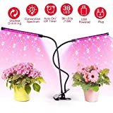 Grow Light, WAKYME 18W 38 LED Plant Light Full Spectrum with 10 Dimmable