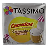 Tassimo Carambar Cappuccino Caramel, Kaffee, Kaffeekapsel, Milchkaffee, 8 Portionen