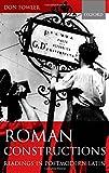 Roman Constructions: Readings in Postmodern Latin
