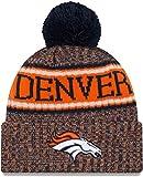 New Era Denver Broncos Beanie NFL 2018 Sideline Sport Reverse Knit Orange/Navy - One-Size
