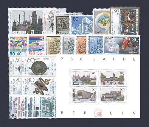 Preisvergleich Produktbild Goldhahn Berlin postfrisch Jahrgang 1987 komplett Briefmarken für Sammler
