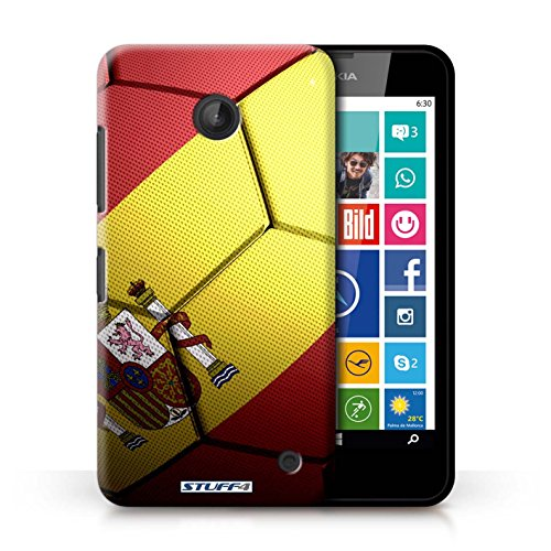 Kobalt® Imprimé Etui / Coque pour Nokia Lumia 635 / Portugal conception / Série Nations de Football Espagne/Espagnol