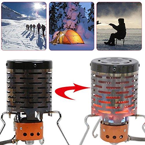 PROKTH Mini Heizaufsatz für Gaskocher, Zeltheizung Gas Heizgerät, Camping und Wandern Heizaufsatz