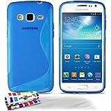 Muzzano F95709 - Funda para Samsung Galaxy Express 2, incluye 3 protectores de pantalla, color azul