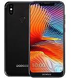 DOOGEE BL5500 Lite Smartphone Débloqué Android 8.1 (4G LTE) – Ultra Mince avec Batterie de 5500mAh, 6,19 Pouces avec Un écran d'entaille en U (Ratio de 19: 9 Vue complète), 5MP + 8 MP + 13 MP- Noir