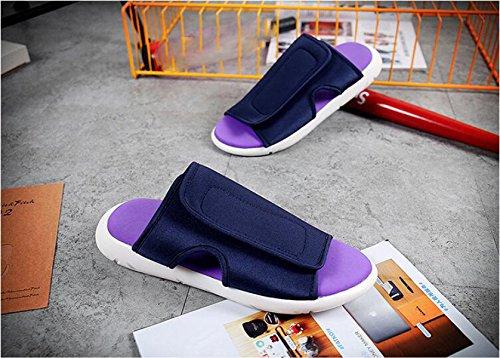 LXXAMens Estate Spiaggia Velcro Maschio Slipper Sandali Peso Leggero Scarpe Da Trekking Blue