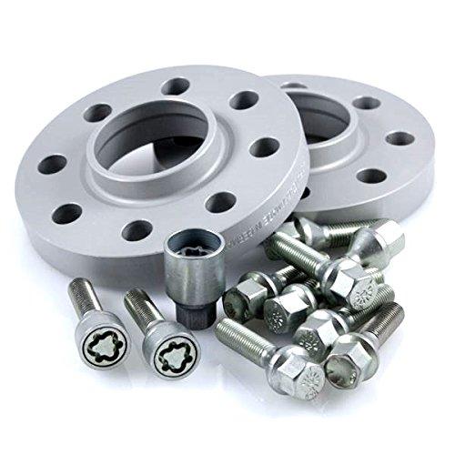 Preisvergleich Produktbild TuningHeads/H&R .0424333.DK.75726-10 ABE Spurverbreiterung, 20 mm/Achse + Radschrauben + Felgenschlösser, 20 mm/Achse