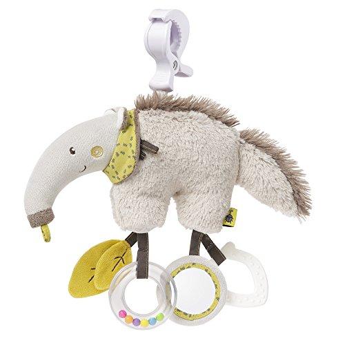 Fehn 064124 Activity-Spieltier Ameisenbär / Motorikspielzeug zum Aufhängen mit Spiegel & Ringen zum Beißen, Greifen und Geräusche erzeugen / Für Babys und Kleinkinder ab 0+ Monaten