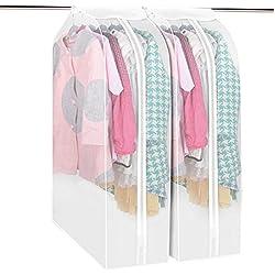 Kleidersack, Anna Shop Verdicken PEVA Hang Kleidersack kleiderhülle Staubdicht Kleidung Aufbewahrungstasche Matt Waschbar Kleidungsstück Anzug Mantel Staubschutz 60*110*50cm