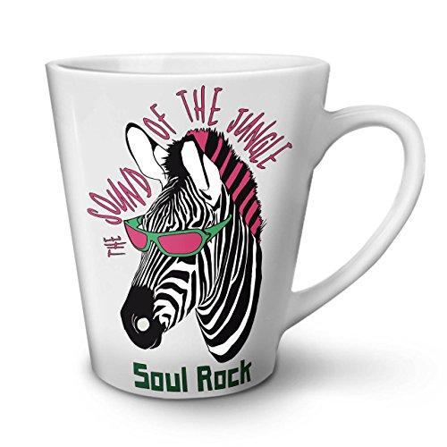 Zebra Seele Rock Musik WeißTee KaffeKeramik Kaffeebecher 12 | Wellcoda