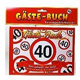 Geburtstag Gästebuch 40 Jahre Verkehrsschild Party Deko Gäste - Buch