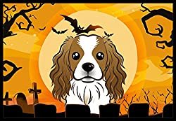 Carolines Treasures Halloween Cavalier Spaniel Indoor or Outdoor Mat, 24 by 36, Multicolor