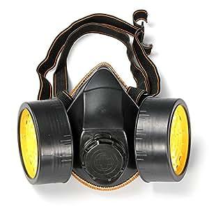 Respirateur Masque à Gaz Chimique Anti-Poussière Vapeur de Peinture Protection