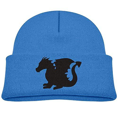 ff3c2dc6 ERCGY Black Dragon Child Elastic Knitted Beanie cap Wool Cotton cap Skull  Hat Funny Unisex Hip