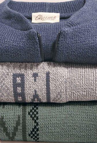 Benbrook Vertical Jaquard Zip Up Cardigan Avec Poches Gris