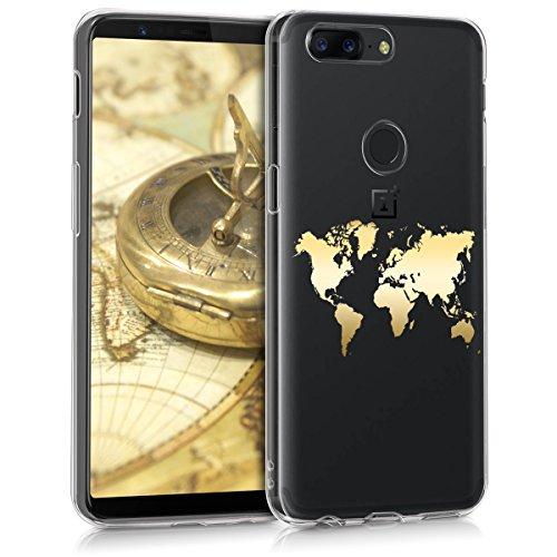 kwmobile OnePlus 5T Hülle - Handyhülle für OnePlus 5T - Handy Case in Gold Transparent