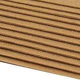 Schnoschi 12 Filzplatten Bastelfilz Filz Beige 2-3 mm Dick