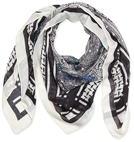 PIECES PCVALERIE LONG  SCARF-Foulard Donna,    Mehrfarbig (Whitecap Gray) Taglia unica