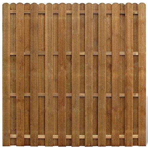 *vidaXL Sichtschutzzaun Element Gartenzaun aus Holz vertikal*