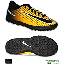 Nike MERCURIAL VORTEX 3 Niño Naranja Zapatilla Futbol Turf - 27