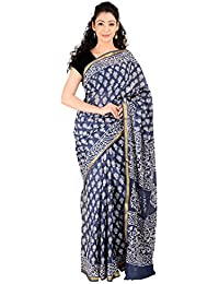 Aaditri Clothing Women's Cotton Zari Border Saree With Blouse Piece (Blue),designer Collection Of Sarees