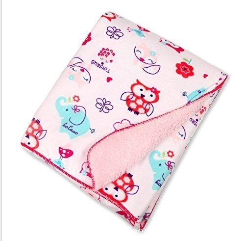 Treasure-House Baby Blanket Unisex Soft- Perfect For Swaddling and Strolling- Baby Printed Mink Blanket ,owl