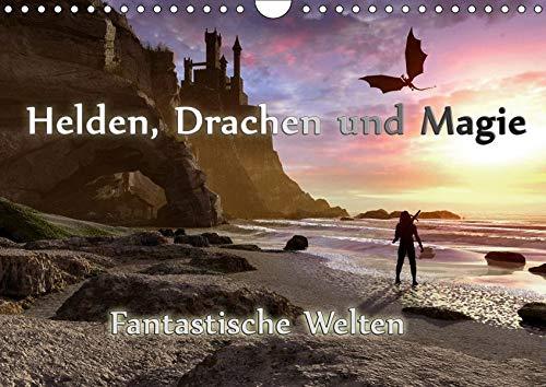 Helden, Drachen und Magie (Wandkalender 2019 DIN A4 quer): 12 wundervolle Fantasybilder, die sie durch das Jahr begleiten. (Monatskalender, 14 Seiten ) (CALVENDO Kunst)