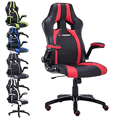 Gtforce Roadster 2 Sport Racing Car Office Chair, Leather, Adjustable Arms Gaming Desk Bucket - inexpensive UK light shop.