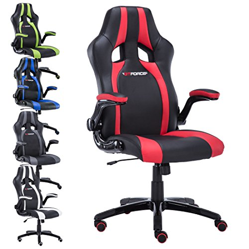 GTFORCE ROADSTER 2 SPORT RACING CAR OFFICE CHAIR, LEATHER