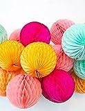 fiori artificiali, favo forma di carta della sfera del fiore, 5pcs / bag , light green