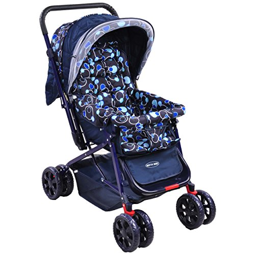 NOTTY RIDE BABY STROLLER-PRAM (BLUE)
