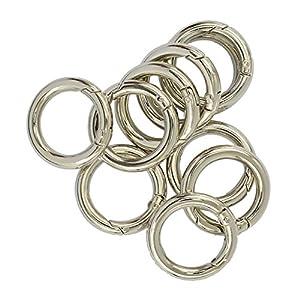 10 Stück Karabiner Karabinerhaken Schnappfeder Schnapphaken Karabiner Ring Taschenringe für Henkel Griffe von Handtaschen Ledertaschen
