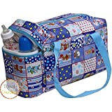Trendy Dukaan™ Baby Mother Warmer Bag With Thermal Warmer - Multi Compartment Multipurpose Diaper/Mother Bag With Bottle Holder (Royal Blue)