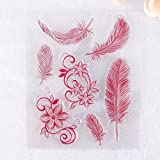Teabelle Dream Feather Pattern DIY Große Transparent Gummi Stempel Seal DIY Craft Scrapbooking Decor
