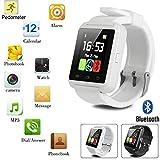 Bluetooth Smart Watch mit Kamera für Android iPhone IOS Samsung LG HTC_White
