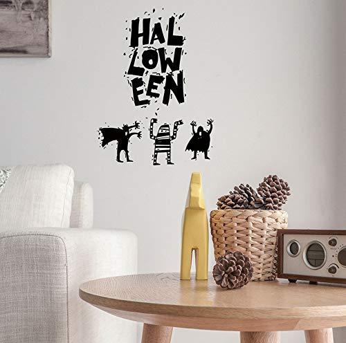 derverwendbare Halloween Hexe Hintergrund dekoriert Wohnzimmer Schlafzimmer Wandaufkleber Sensenmann Wandaufkleber ()