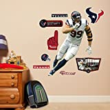 NFL Houston Texans JJ Watt Fathead Wall Decal, Junior