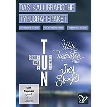 Das große kalligrafische Typografiepaket (Win+Mac)
