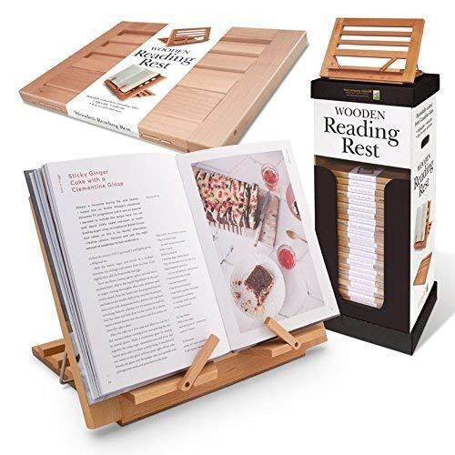 Wooden Reading Rest - Adjustable Cookbook Holder