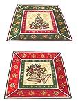Dekoteller Weihnachten Tannenbaum Gebäckteller Untersetzer Kerzenteller