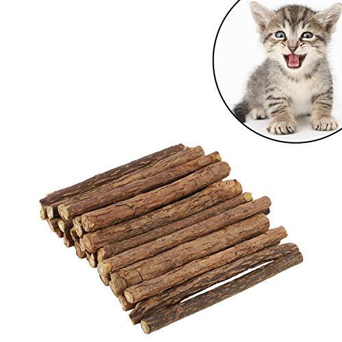redcherry 30 Stück Katzenminze Sticks, Matatabi-kausticks Unterstützen Die Natürliche Zahnpflege und Helfen Bei Zahnstein Mundgeruch Katzenspielzeug und Zahnpflege